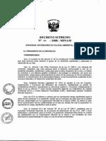 Decreto Supremo N° 003-2008-MINAM ESTÁNDARES DE CALIDAD AMBIENTAL PARA AIRE