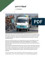 Case 3 - Public Transport in Nepal