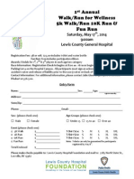 Walk for Wellness Registration Form and Release Final Docx