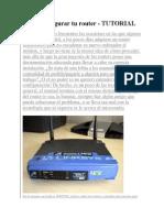 Como Configurar Tu Router