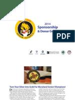MD Senior Olympics 2014 Sponsorship Guide