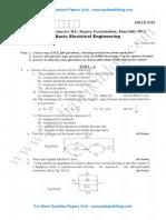 Basic Electrical Engineering June 2013 (2010)