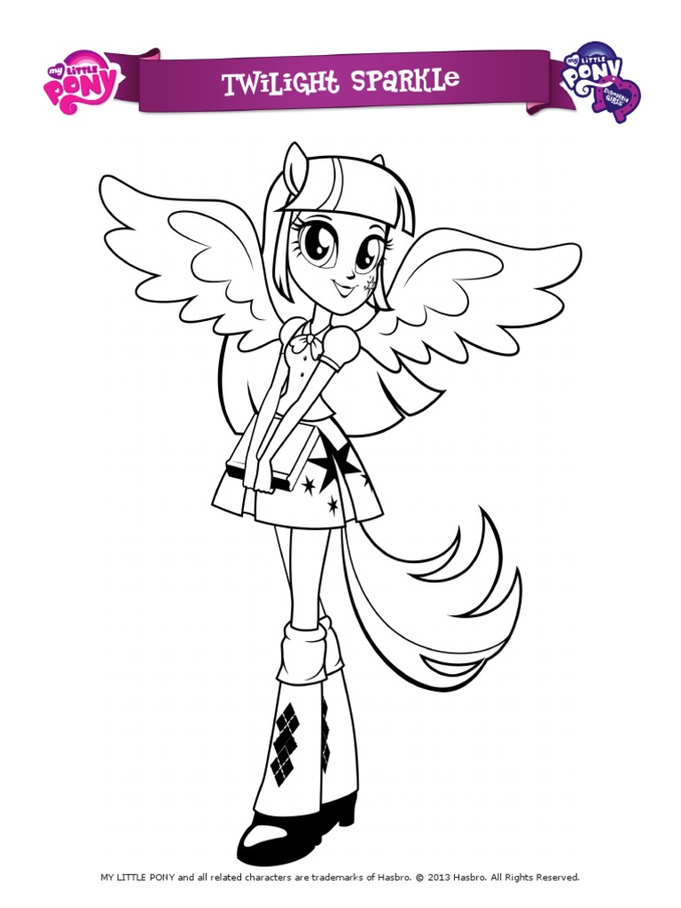 My Little Pony Equestria Girls Coloring Pages Television