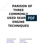 Comparison Between Three Commonly Used Search Engine Techniques