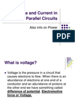 Voltage and Current in Series & Parallel Circuits