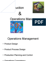 Production Operation Management