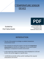 Low Cost Temperature Sensor Device