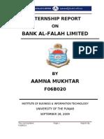 Internship Report on bank Al-Falah