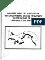 Informe Sobre Estudio Geotermico en Panama