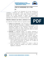 Mercado de Inversiones en El Peru