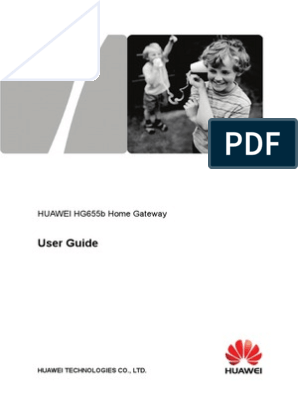 Manual Huawei Hg655b | Computer Network | Wireless Lan