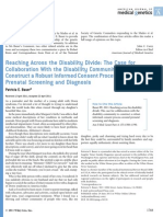 """Bauer, """"Reaching Across the Disability Divide - The Case for Collaboration With the Disability Community to Construct a Robust Informed Consent Process Around Prenatal Screening and Diagnosis"""""""
