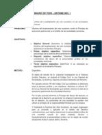 Seminario de Tesis Primer Informe