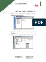 Windows XP - CreatingNewUserProfile