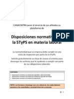 Disposiciones de La STPS