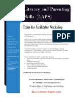 Literacy and Parenting Skills (LAPS) Train the Facilitator Workshop