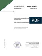 OIML R117_1-F2007_Mesurage Dynamique de Liquides Autres Que l'Eau