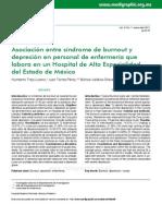 Depresión y Bornout