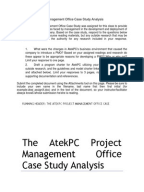 atekpc case analysis 1 - atekpc - discussion - download as word doc (doc / docx), pdf file (pdf),  text file  the atekpc project management office case study analysisdocx.