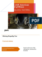 Pwc Mining Royalty Tax in Mexico