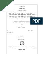 Project Report Prepration