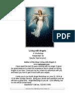 """Living with Angels""  Angel Workshop - June 22, 2014, Neptune, NJ"