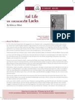 Random House LLC 2014 Immortal Life of Henrietta Lacks Student Guide