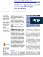 A qualitative investigation into patients' views on visual field testing for glaucoma monitoring