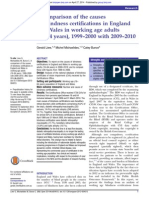 A comparison of the causes of blindness certifications in England and Wales in working age adults (16–64 years), 1999–2000 with 2009–2010