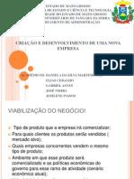 Criação e Desenvolvimento de Uma Nova Empresa - Slide 1