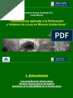 Geomecánica Aplicada a La Perforación y Voladura de Rocas en Minería Subterránea