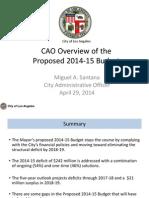 2014-15 Proposed Budget.cao Presentation