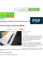 Cover Letters to Get You Hired - Fastweb