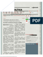 La Jornada_ Sacerdotes Encabezan La Protesta en Saltillo