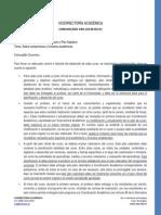 COMUNICADO VRA-20140318-01 Sobre Formatos Académicos