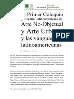 Imelda Ramirez Primer Encunetro de Arte No Objetual Colombia 1981