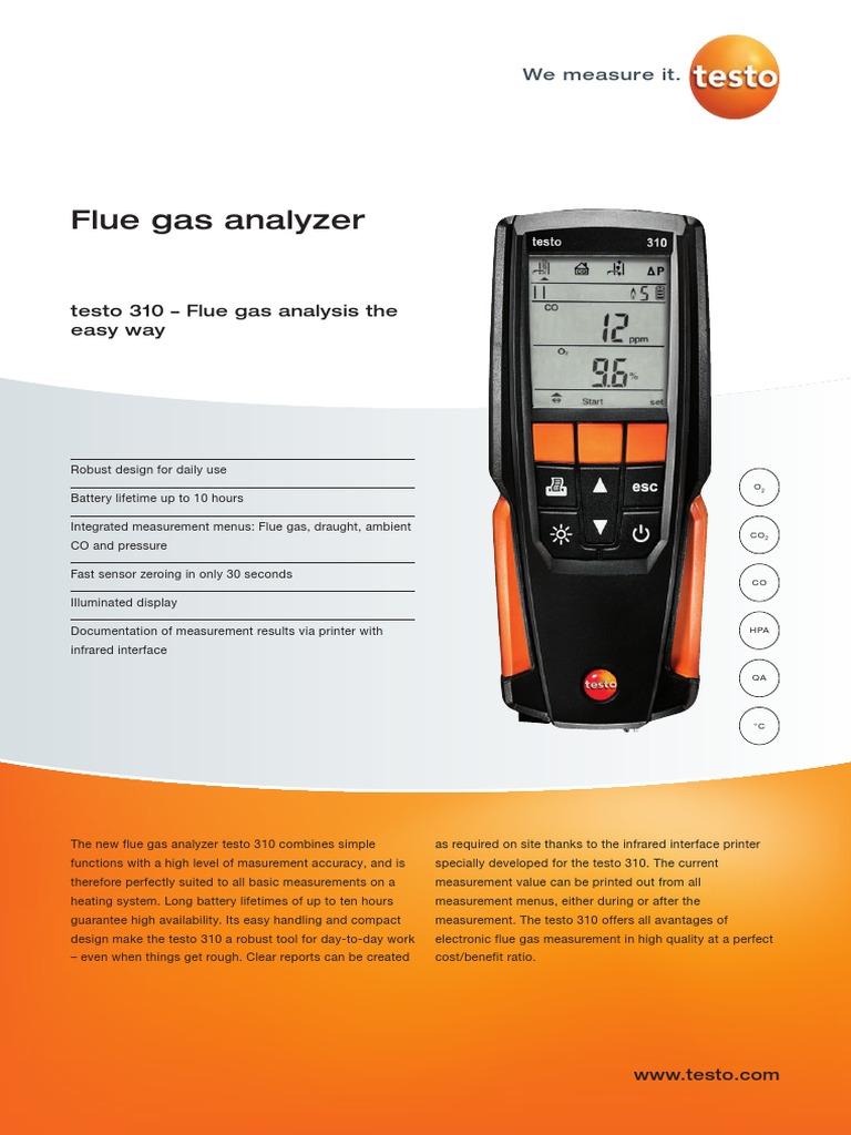 Testo 0554 0549 Fast IRDA Printer for Flue Gas Analyser