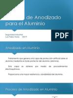 Proceso de Anodizado Del Aluminio