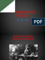 presidents and politics