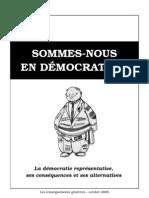 Sommes-nous en démocratie ?