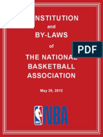NBA Constitution and by Laws