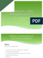 2. Referencia y Citas Bibliográficas 2011