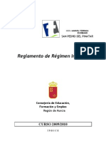 Reglamento de Régimen Interior 09-10