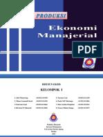 Ekonomi Manajerial - Teori Produksi