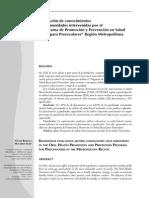 Programa de Promoción y Prevención en SaludBucal Para Preescolares