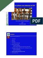 reforço de pilares com Fiber Reinforced Polymer (FRP)