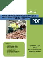 Proyecto de Investigación Residuos Solidos de Construccion