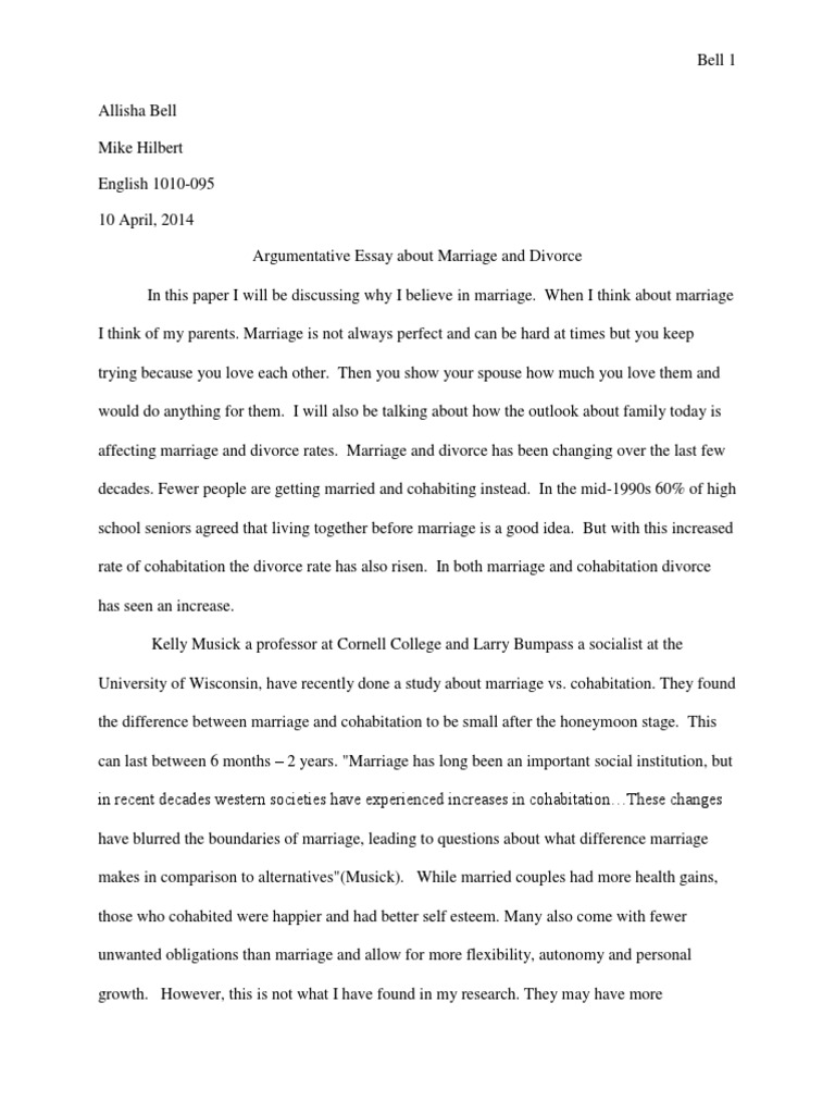 Argumentative essay marriage divorce how to write a 6 page essay in an hour
