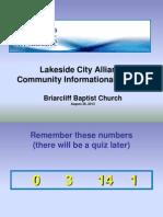 Community Presentation 8 2013 V2Lakeside.city