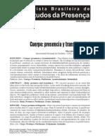 Cuerpo Presencia y Transitoriedad. Marcelo Comandú